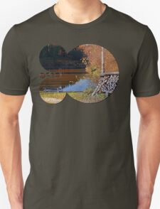 Romantic bench at the pond II | waterscape photography T-Shirt