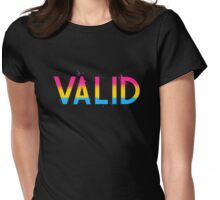 I Am Valid: Pansexual Womens Fitted T-Shirt