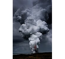 Kilauea Volcano at Kalapana 3a Photographic Print