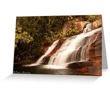 Terrace Waterfall Greeting Card