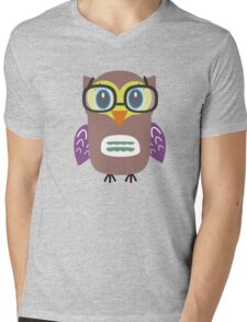 Nerdy owl  Mens V-Neck T-Shirt
