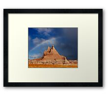 Sunrise over Badlands Castle Trail Framed Print