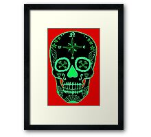 Logistic Specialist - Day of the Dead Neon Green Framed Print