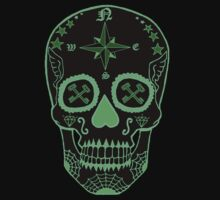 Logistic Specialist - Day of the Dead Neon Green One Piece - Short Sleeve