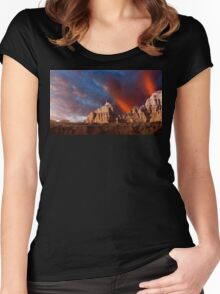 Sunrise over Badlands Window Trail .3 Women's Fitted Scoop T-Shirt