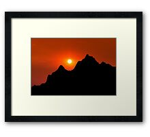 Sunset over Badlands National Park Framed Print