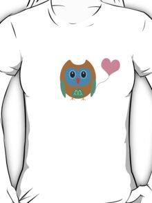 Cute owl with heartballoon T-Shirt