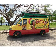 A Colourful Food Van. Photographic Print