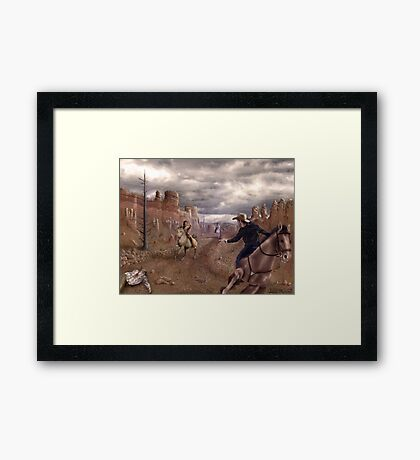 Run To The Hills Framed Print