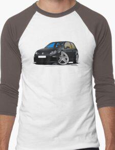 VW Golf R Black Men's Baseball ¾ T-Shirt