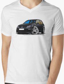 VW Golf R Black Mens V-Neck T-Shirt