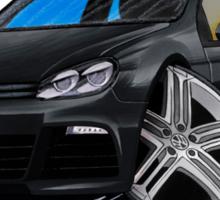 VW Golf R Black Sticker