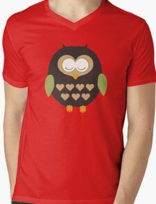 Sleeping owl  Mens V-Neck T-Shirt
