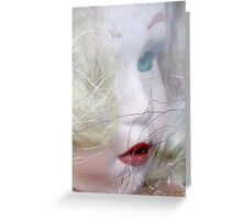 faded doll Greeting Card