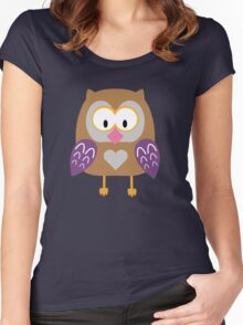Ugly owl  Women's Fitted Scoop T-Shirt