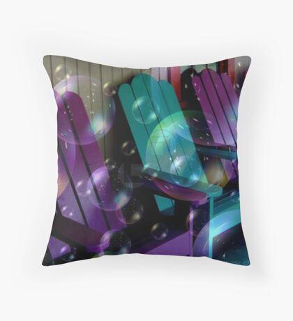 Bubbly Adirondacks Throw Pillow