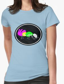 Brightly Colored Ant Womens Fitted T-Shirt