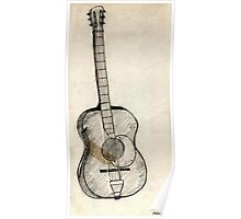 09 - SPANISH GUITAR - DAVE EDWARDS - PENCIL - 1966 Poster