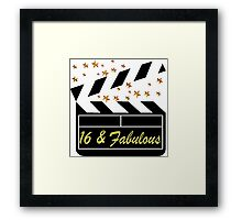 SWEET 16 YEAR OLD MOVIE STAR QUEEN Framed Print
