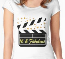 SWEET 16 YEAR OLD MOVIE STAR QUEEN Women's Fitted Scoop T-Shirt
