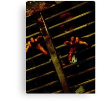 Caged Zombie Canvas Print