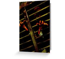 Caged Zombie Greeting Card