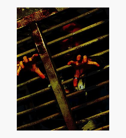 Caged Zombie Photographic Print