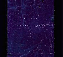 USGS Topo Map Oregon Pinhead Buttes 281101 1986 24000 Inverted by wetdryvac