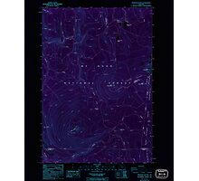 USGS Topo Map Oregon Pinhead Buttes 281101 1986 24000 Inverted Photographic Print