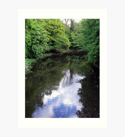River Almond- A view from the bridge Art Print