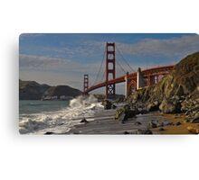 Golden Gate Splash 2 Canvas Print