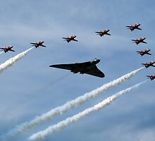 Vulcan and Red Arrows by J Biggadike