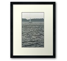 Sailboat and Waves Framed Print