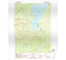 USGS Topo Map Oregon Waldo Lake 281982 1986 24000 Poster
