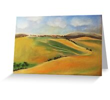 tuscany -landscape in pastel Greeting Card