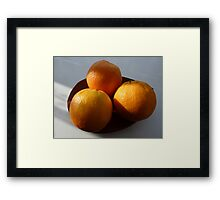 Orange Fruit Bowl Framed Print