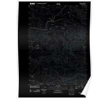 USGS Topo Map Oregon Jordan 20110908 TM Inverted Poster