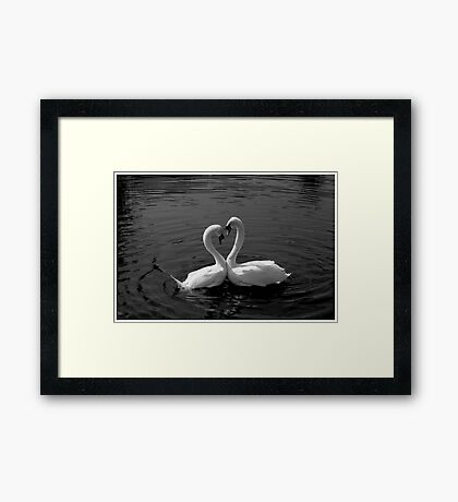 Love In The Neck Framed Print