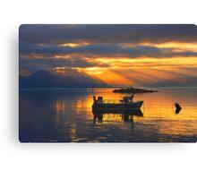 Sunbeams over the Isle of Skye, Scotland. Canvas Print