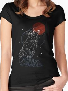 Fox in the Stars Women's Fitted Scoop T-Shirt