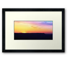 Grand Canyon Sunset In May Framed Print