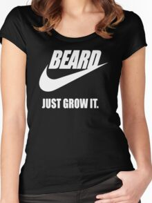 Beard - Just Grow It Women's Fitted Scoop T-Shirt