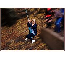 A Swing in the Park Photographic Print