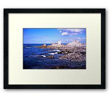 Devon coast by lee bay Framed Print