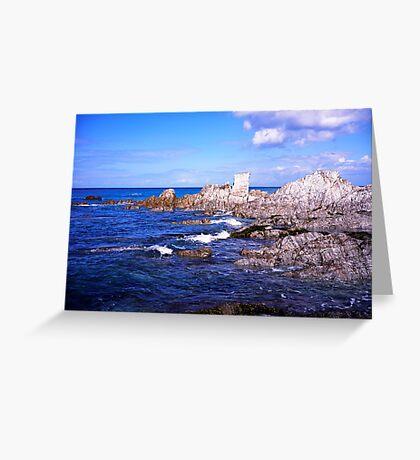 Devon coast by lee bay Greeting Card