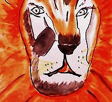 The Tigar, watercolor by Anna  Lewis, blind artist