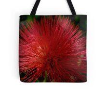 Red Pom Pom Tote Bag