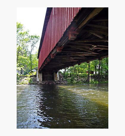 Covered bridge from the side Photographic Print