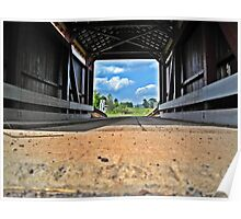 Low View Covered bridge Poster
