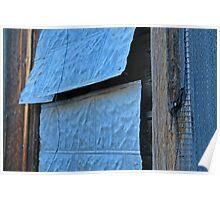 Blue Shack, Detail 2, Santa Fe, New Mexico Poster